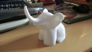 Éléphant imprimé 3D